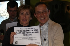 Gloria Martínez con Pepe Boces