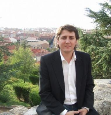 Carlos Martínez en el castillo