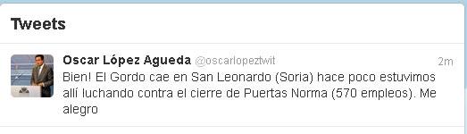Twitter de Oscar López