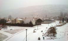 La nieve cae por toda la provincia