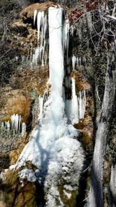 Cascada de La Toba helada