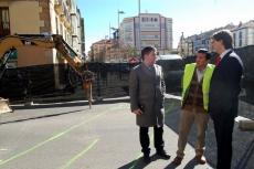 Antón Mínguez visitan las obras