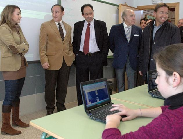 Visita de López al colegio