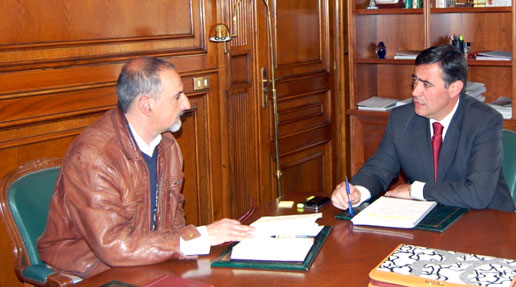 Pardo y Moreno en la reunión