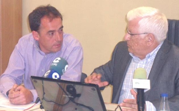 Serrano y Ruiz Liso en la presentación