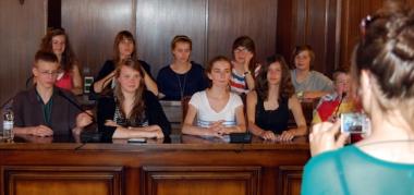 Alumnos polacos en el Ayuntamiento