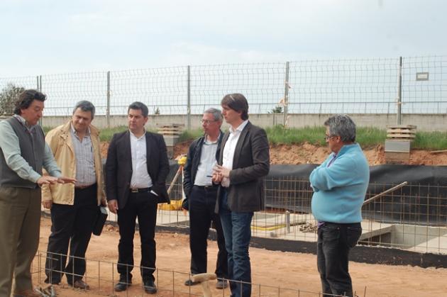 Martínez y Antón en las obras