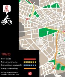 Plano de los carriles bici que el programa prevé construir