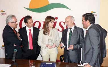 Loriente, Blanco,Clemente, García y Delso en la clausura