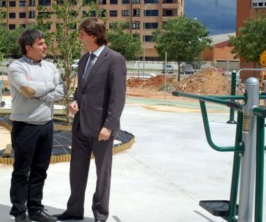 Antón y Mínguez en el parque