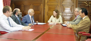 Heredia se reúne con la delegación del Banco de Alimentos en Soria