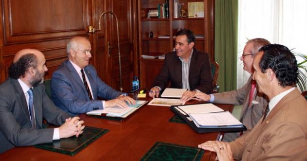Reunión del Banco de Alimentos en Diputación