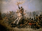 Sancho VII saltando y rompiendo las cadenas