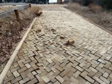 Aceras de madera levantadas en la CMA