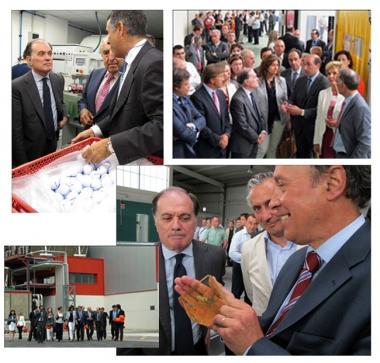 De izquierda a derecha, inauguraciones de las empresas Replay Golf, Controlsa, Mevión Ólvega y Rugui, presididas por el consejero de Economía y Empleo