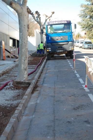 Obras aceras San Andrés