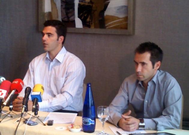 Rubén Fernández, director general de Dymsa (a la izquierda)