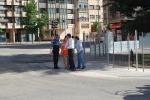 Alcalde y concejal visitando las obras