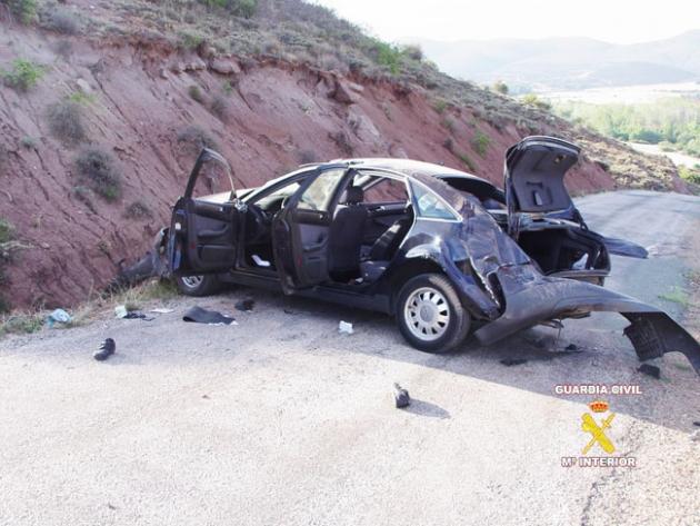 Aspecto del vehículo accidentado