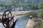 El relieve interior del río se puede contemplar estos días