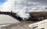 Columna de humo durante el incendio