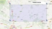 Territorio que abarca el permiso 'Edison' de prospección para el noreste provincial