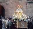 Imagen de San Saturio en su procesión a la salida de la concatedral