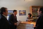 Pardo visita la oficina de turismo de Medinaceli