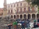 Estudiantes sorianos en la plaza Mayor de la capital de la provincia