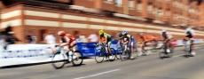 Ciclistas en el Trofeo San Saturio