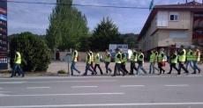 El grupo, a la entrada de Soria