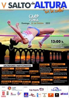Cartel anunciador de los saltos