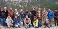 El grupo en los montes sorianos