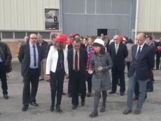 Carmen Vela en su visita al CEDER