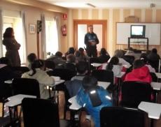 Visita al colegio de Las Pedrizas