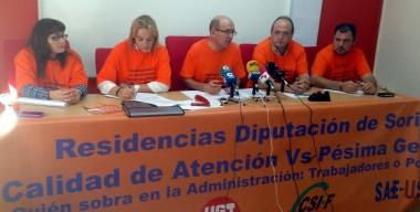 El comité en rueda de prensa