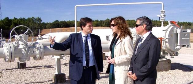 La subdelegada, en la puesta en marcha del gasoducto en Los Rábanos