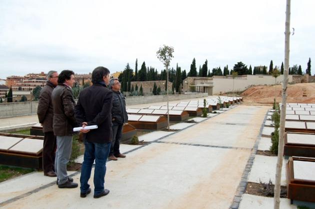 Visita de Antón a las obras
