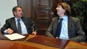 Revilla y Mínguez en el ayuntamiento