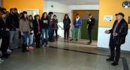 Muñiz (dhca.) se dirige a los alumnos de la Escuela de Artes
