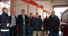 Visita de la Diputación al parque de bomberos de Almazán