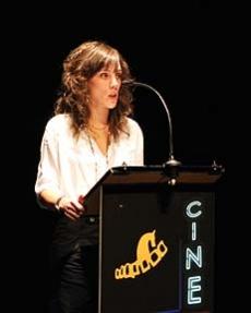 La concejal Inés Andrés en la presentación del certamen