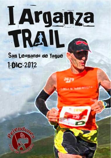 Cartel de la carrera de montaña
