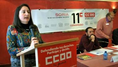 Romero, en su intervención ante los compañeros del sindicato