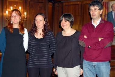 Calvo con los ganadores