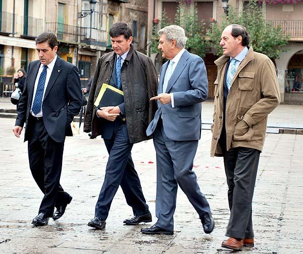 De izquierda a derecha, Martínez, Pimentel, Posada y Marqués antes de la clausura de la jornada