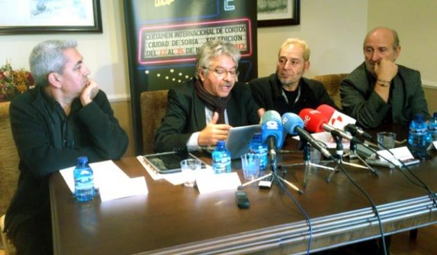 De izquierda a derecha, Alonso, Allende, Muñiz y Angulo