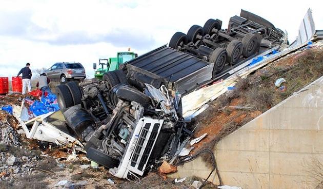 Estado del camión siniestrado