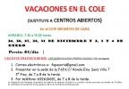Cartel de 'Vacaciones en el Cole'