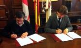 Ciria y Mínguez firman el convenio